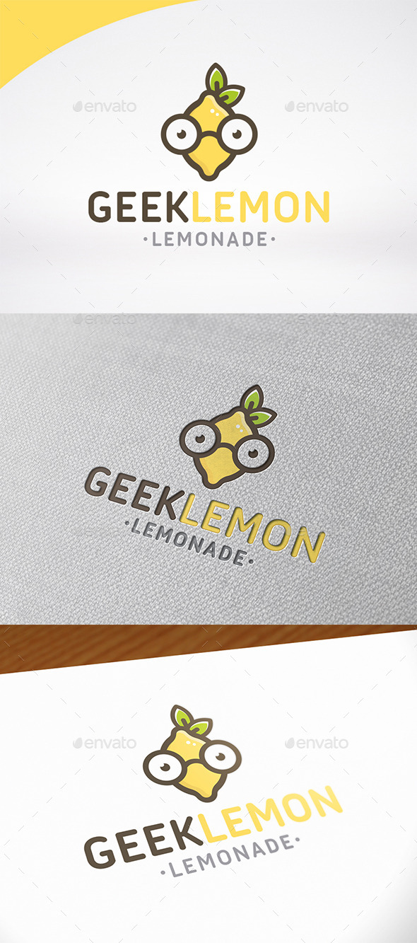 Geek Lemon Logo Template
