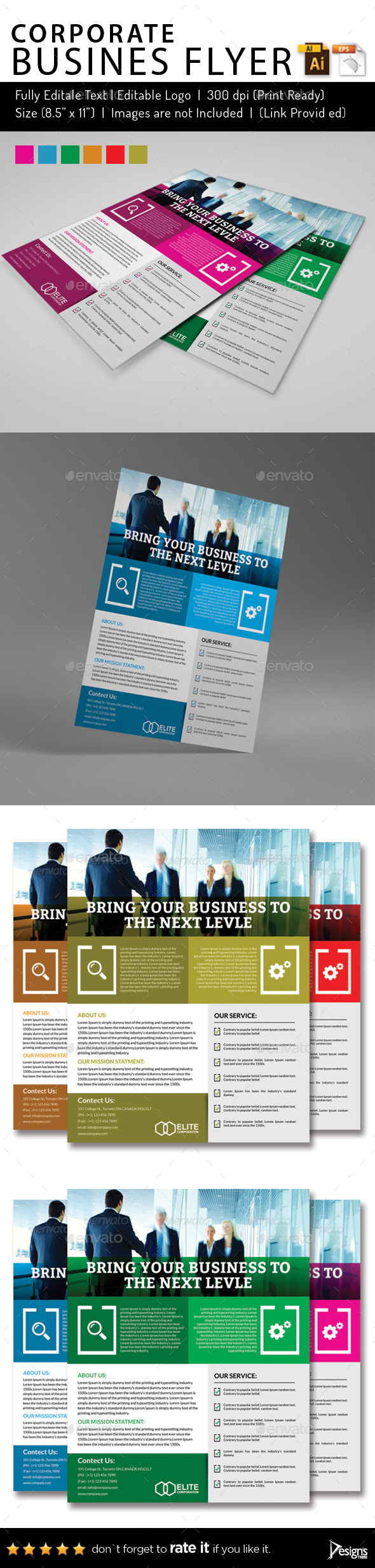 Multipurpose Business Flyer 55 - Flyers Print Templates