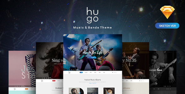 Hugo | Music & Bands Sketch Templates - Sketch Templates