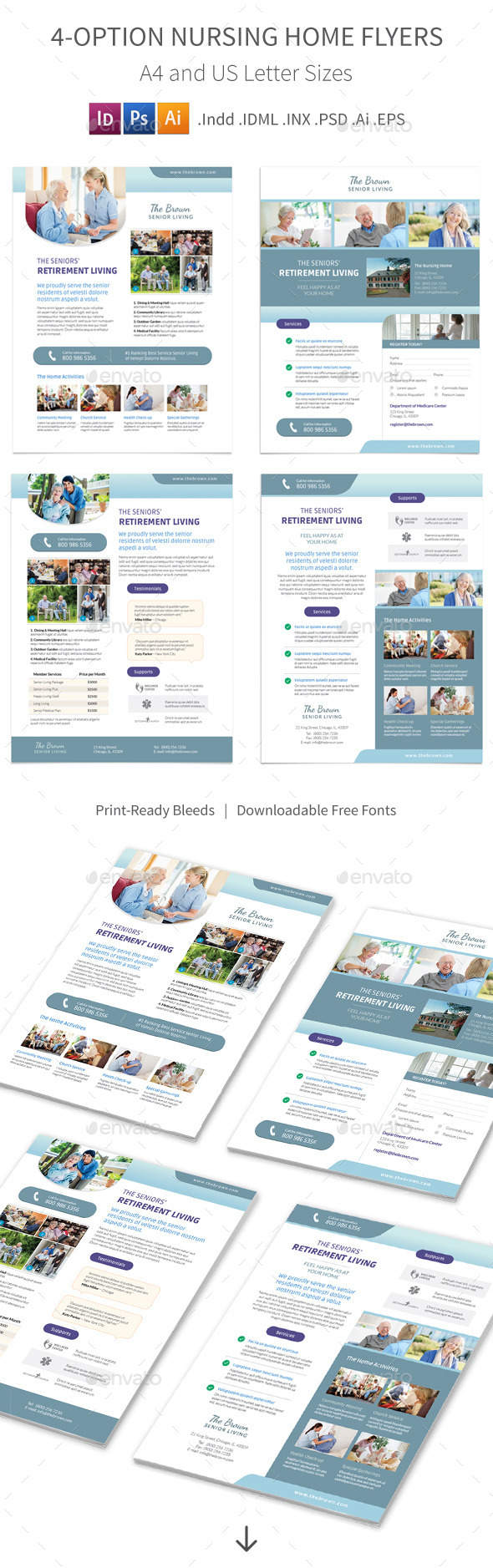 Nursing Home Flyers – 4 Options - Corporate Flyers