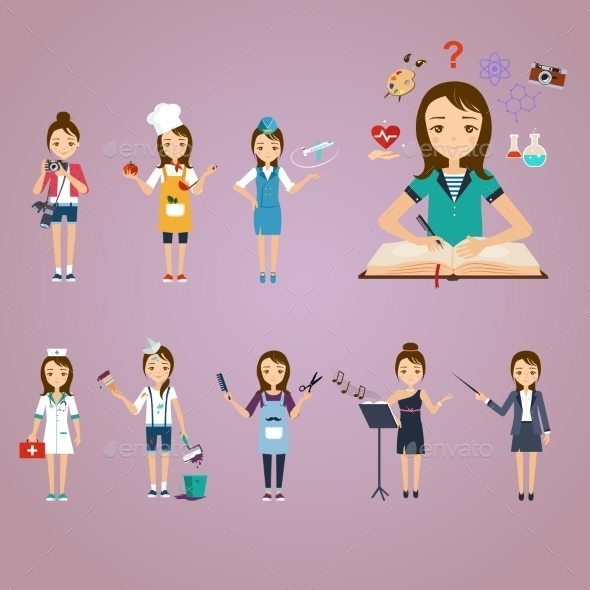 Concept Of Education, The Girl Chooses - People Characters
