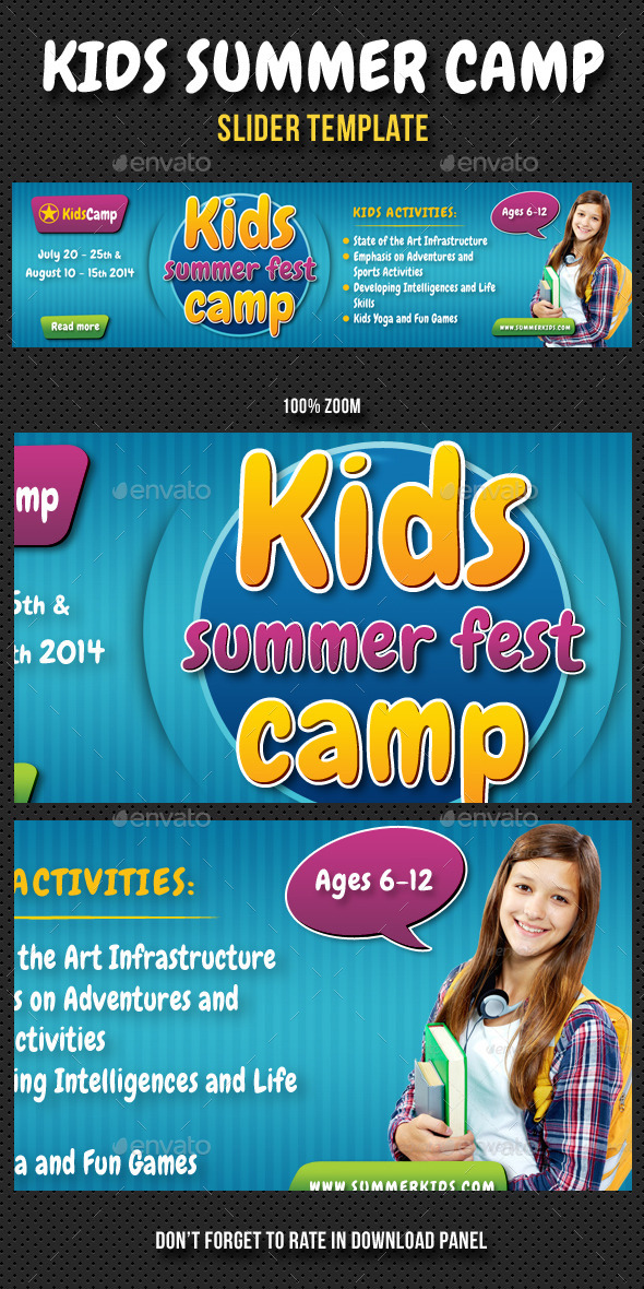 Kids Summer Camp Slider