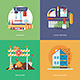 Flat Construction and Building Concepts - GraphicRiver Item for Sale