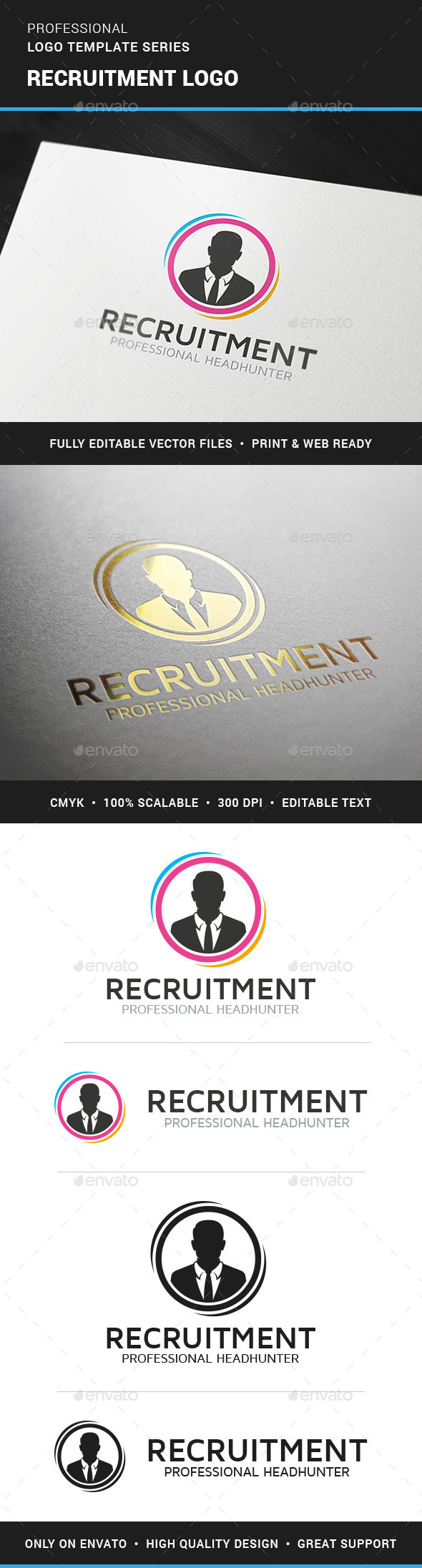 Recruitment Logo Template - Humans Logo Templates