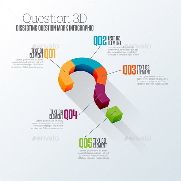 Question 3D Infographic - Infographics