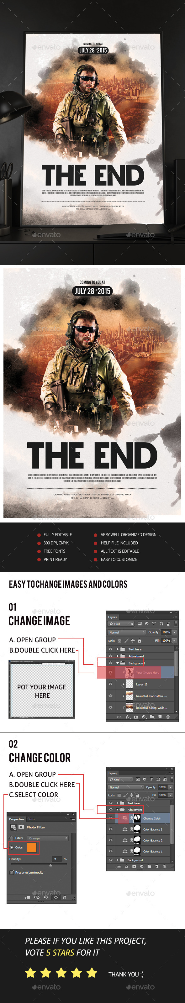 The End Movie Poster/Flyer - Events Flyers