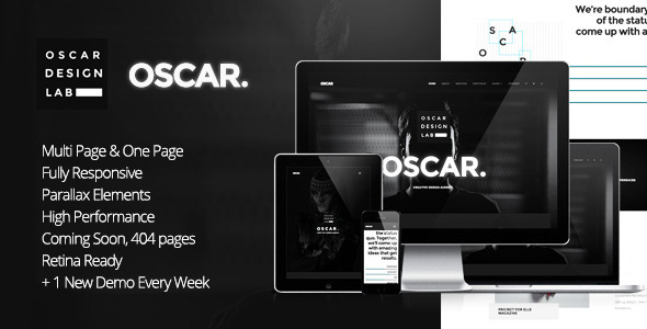 Oscar – Minimal Multipurpose Parallax One Page Template