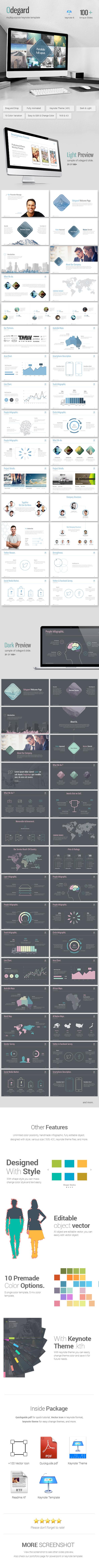 Odegard - Simple Keynote Presentation Template - Business Keynote Templates