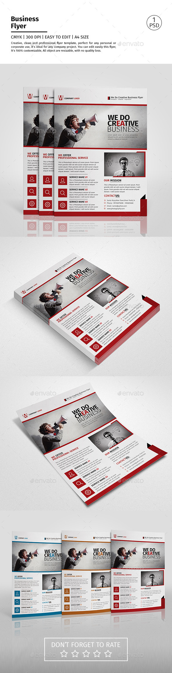 A4 Corporate Business Flyer Template Vol 10