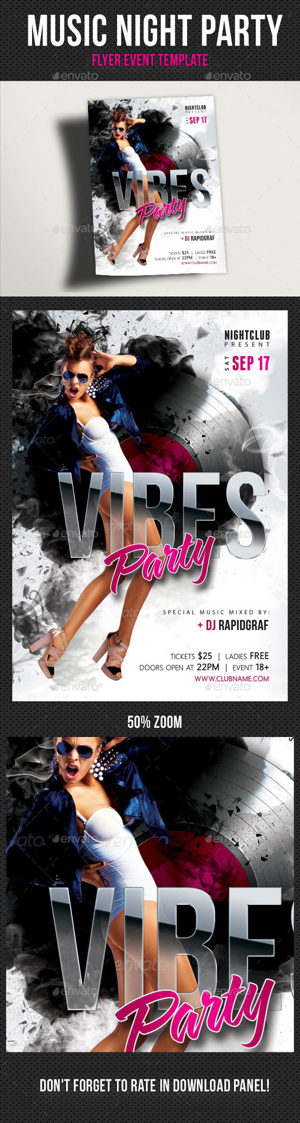 Music Night Party Flyer Template 21 - Clubs & Parties Events