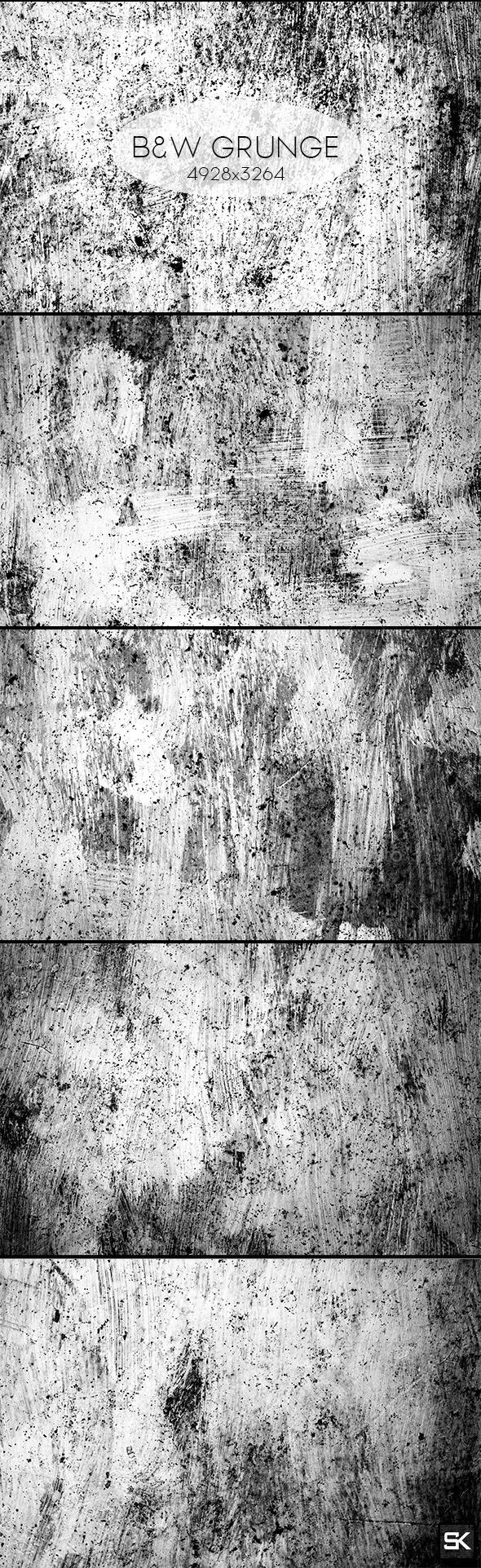 B&W Grunge.3 - Industrial / Grunge Textures