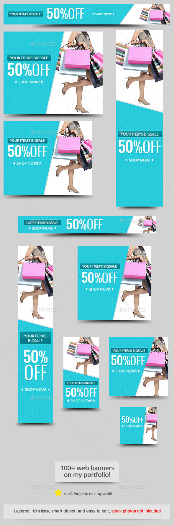 Cool Big Sale Web Banner Template - Banners & Ads Web Elements