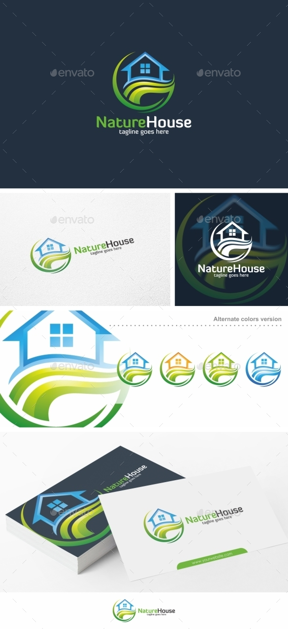 Nature House / Home - Logo Template - Buildings Logo Templates