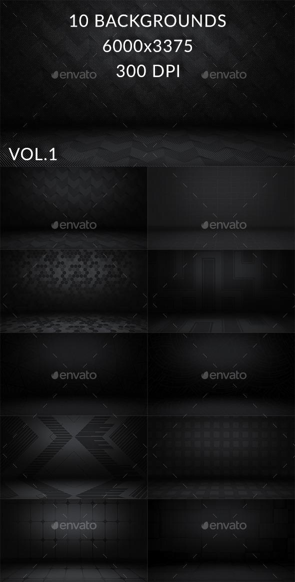 10 Dark Floor Backgrounds Vol.1 - Backgrounds Graphics