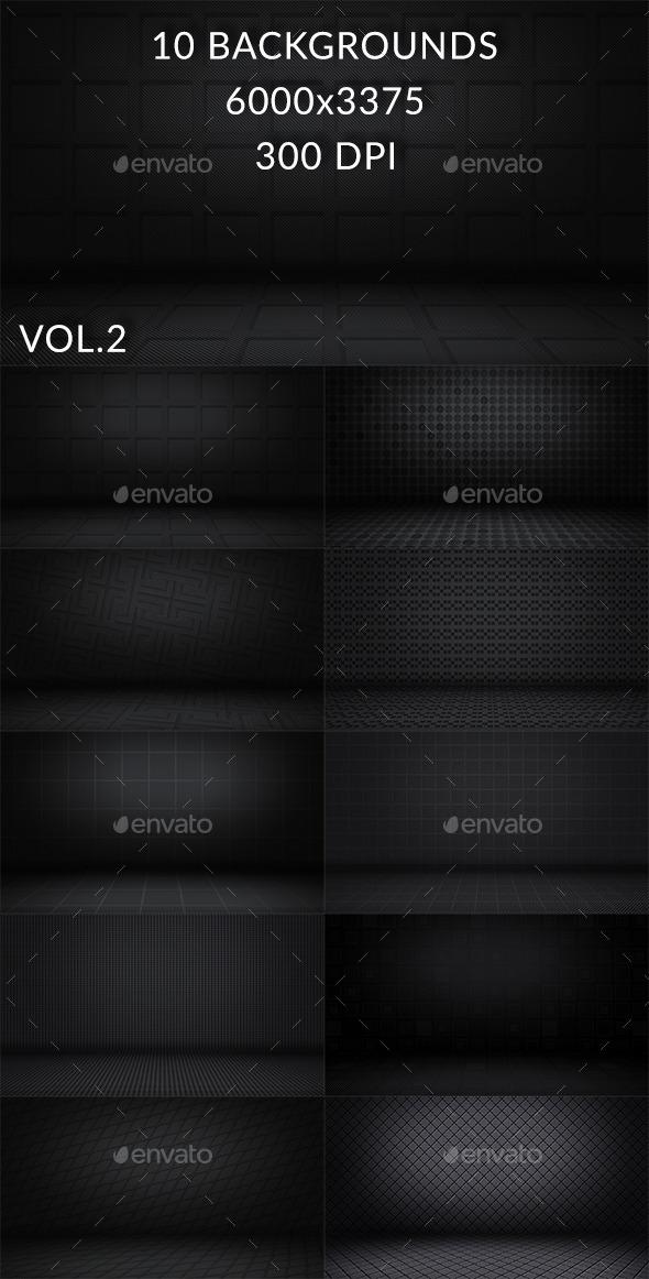 10 Dark Floor Backgrounds Vol.2 - Backgrounds Graphics