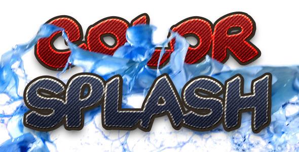 Color Splash Transition Pack 1