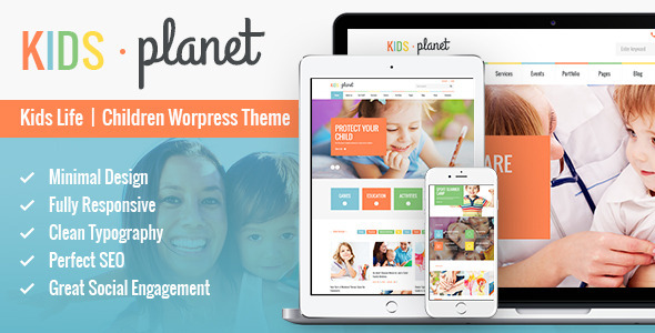 Kids Planet – Multipurpose Children WP Theme