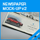 Newspaper Mock-up v2 - GraphicRiver Item for Sale