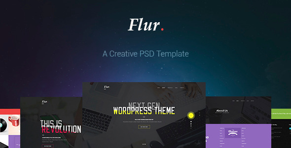 Flur - Creative PSD Template - Creative PSD Templates