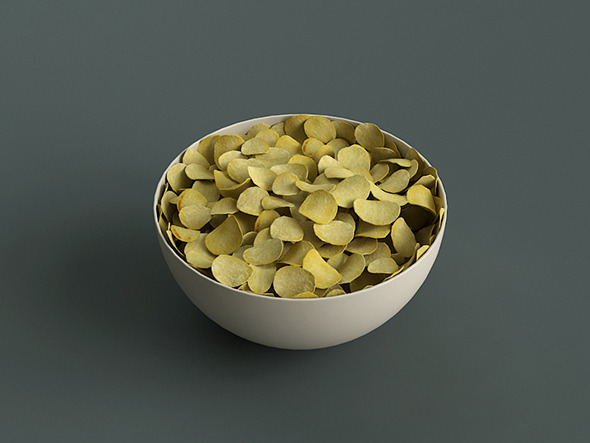 Big Bowl Of Potato Chips