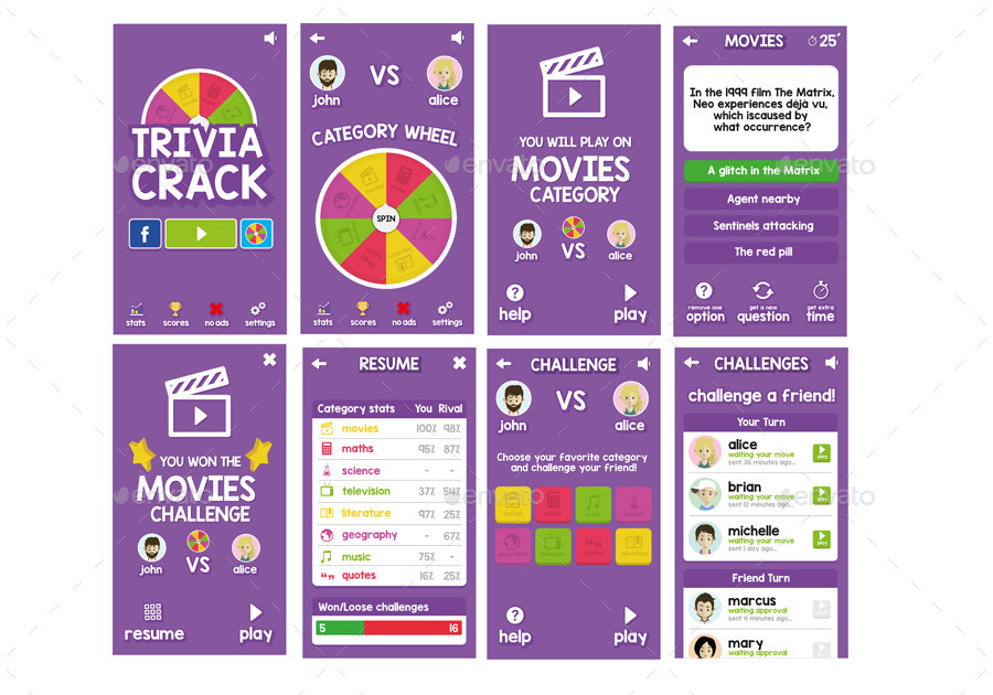 trivia crack game graphic assetsdelagransiete | graphicriver, Modern powerpoint