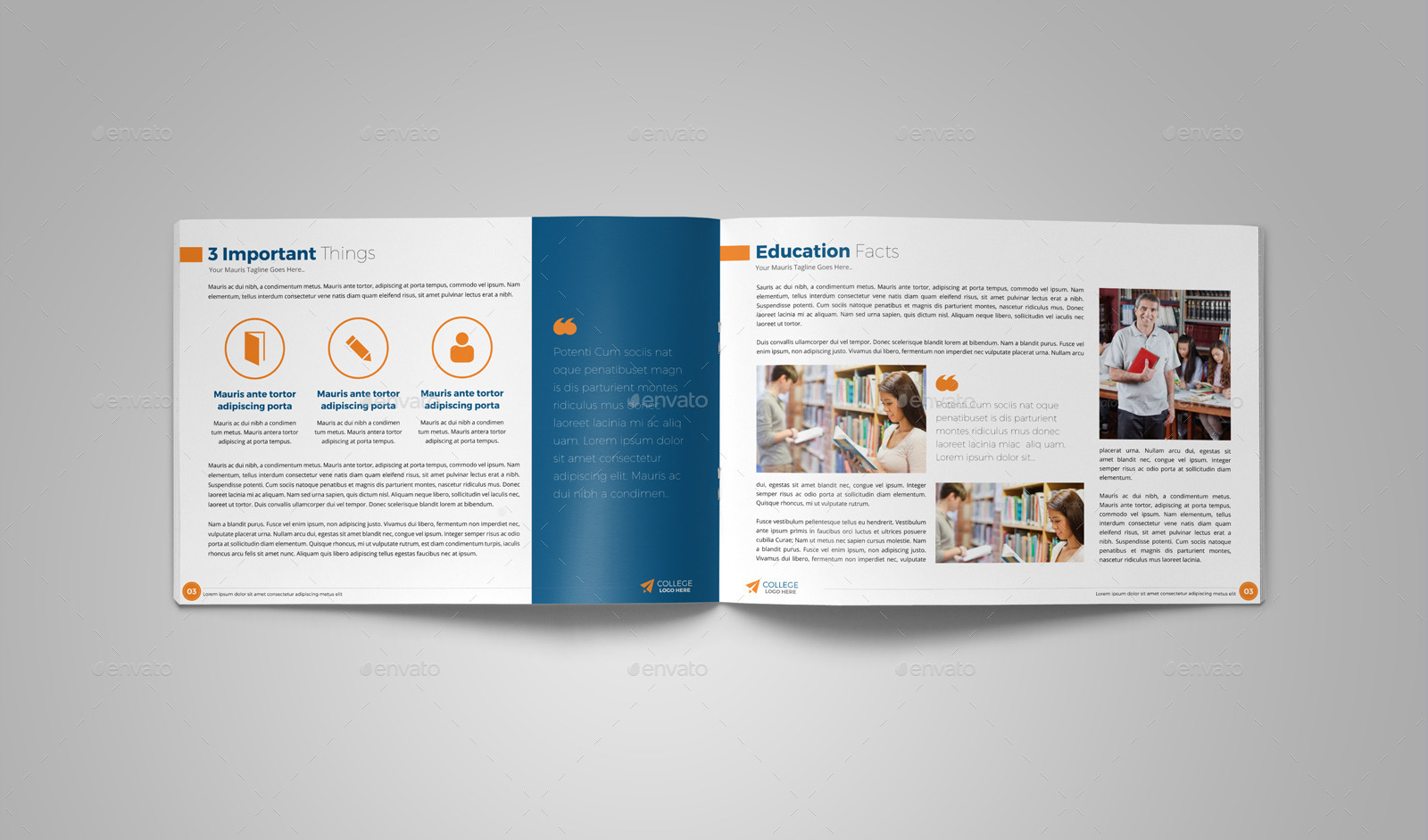 free trifold brochure templates sample brochures examples college ...