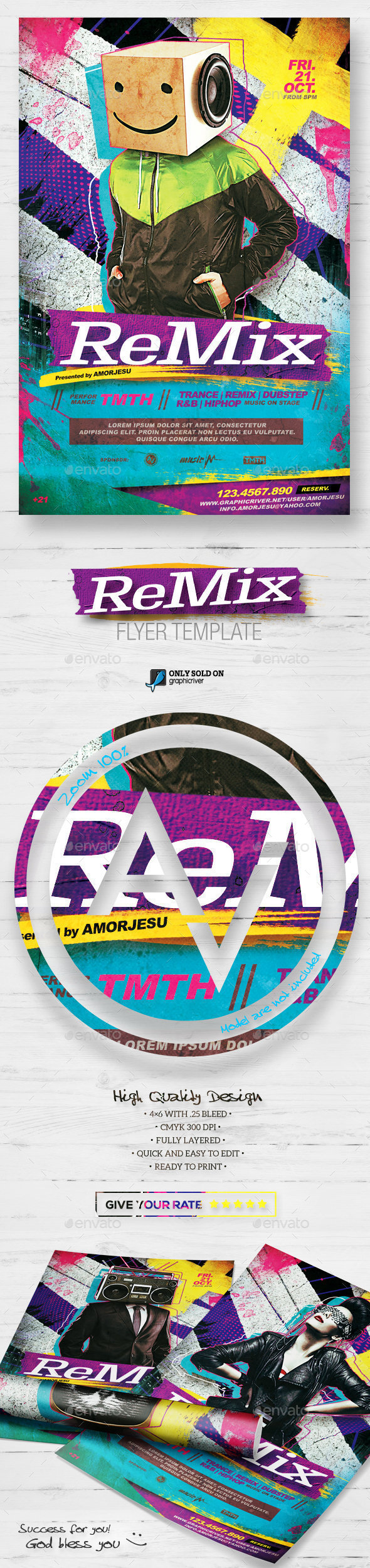 Remix Flyer Template V2 - Clubs & Parties Events
