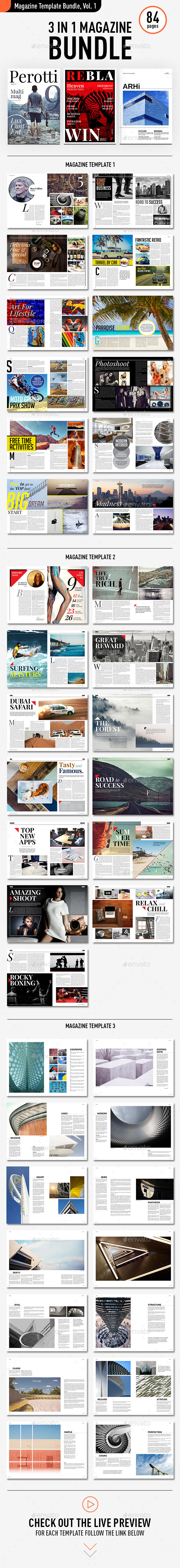 Magazine Template Bundle, Vol. 1 - Magazines Print Templates