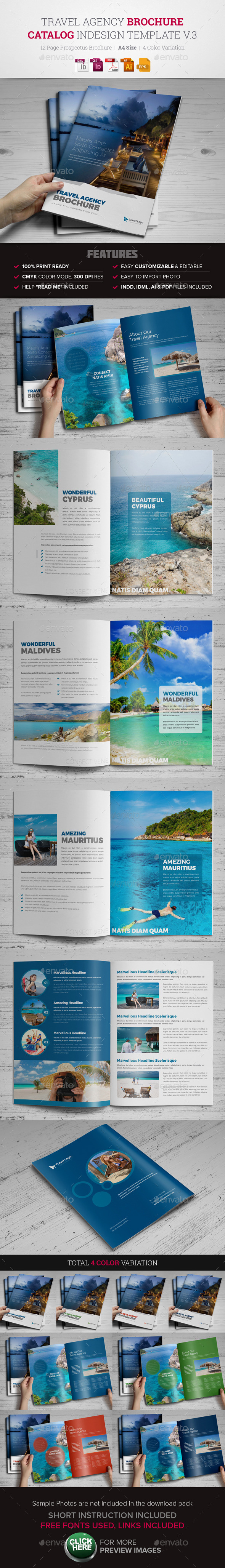 Travel Agency Brochure Catalog InDesign v3