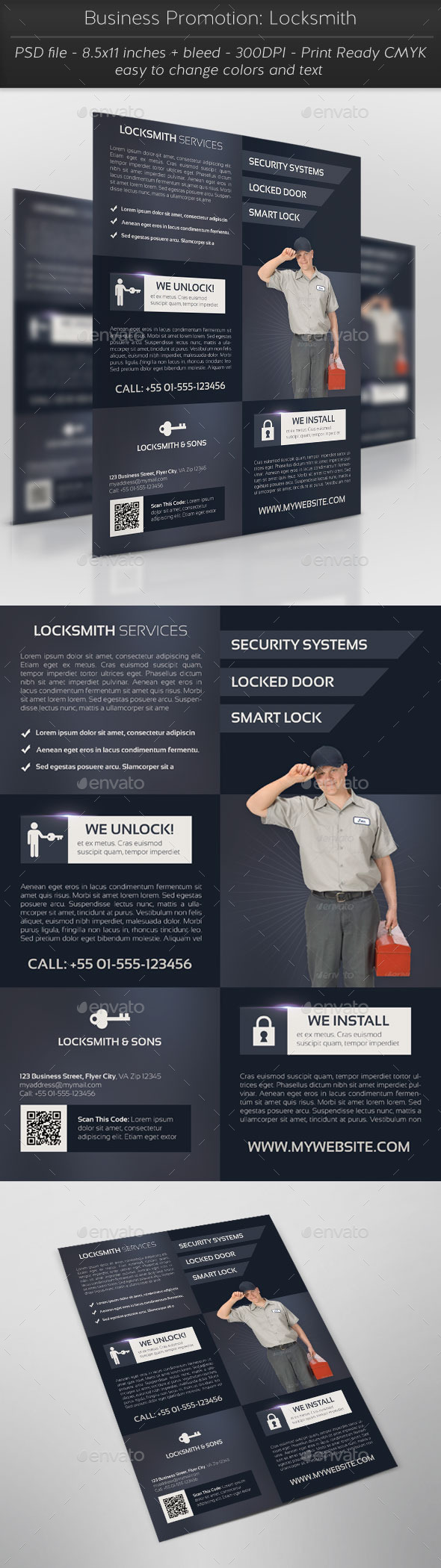 Business Promotion: Locksmith - Corporate Flyers