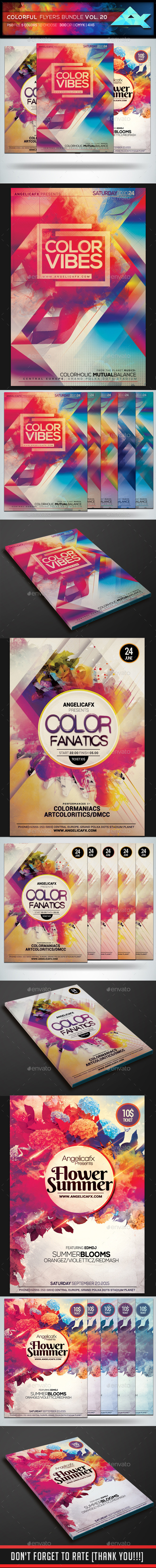 Colorful Flyers Bundle Vol. 20 - Flyers Print Templates