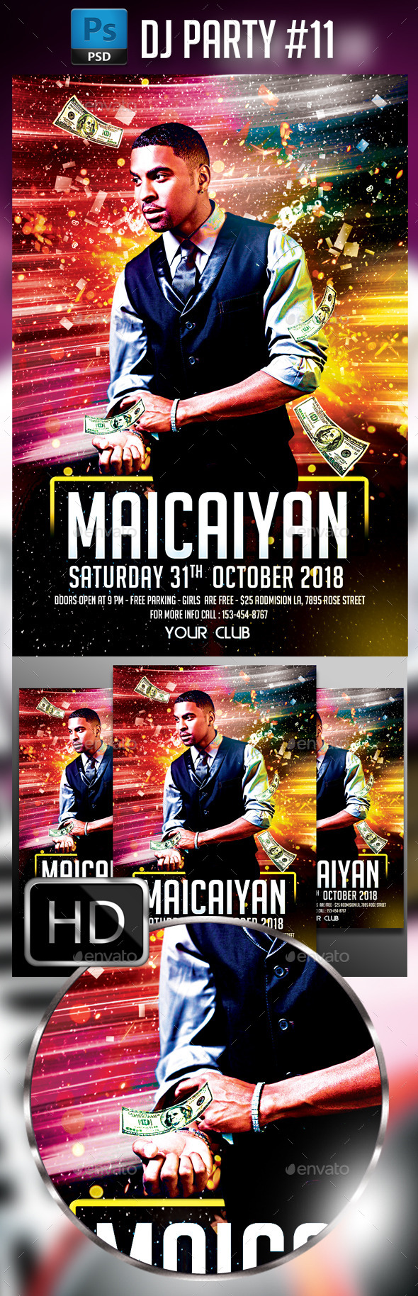 Dj Party #11 - Events Flyers