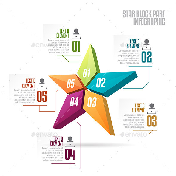Star Block Part Infographic - Infographics