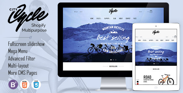 CityCycle - Bike Store Responsive Shopify Theme - Shopping Shopify