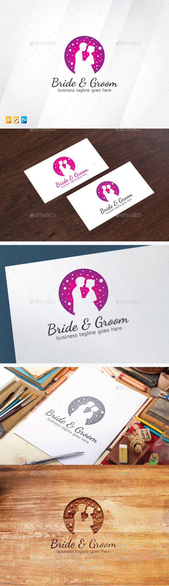 Bride & Groom - Humans Logo Templates