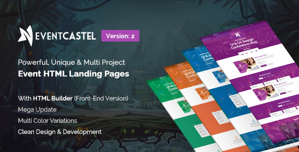EventCastle - Event Landing Page Template With Page Builder - Landing Pages Marketing