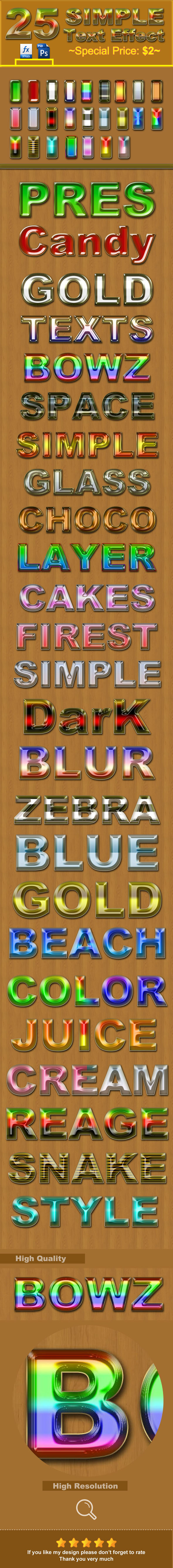 25 Simple Photoshop Text Styles - Text Effects Styles