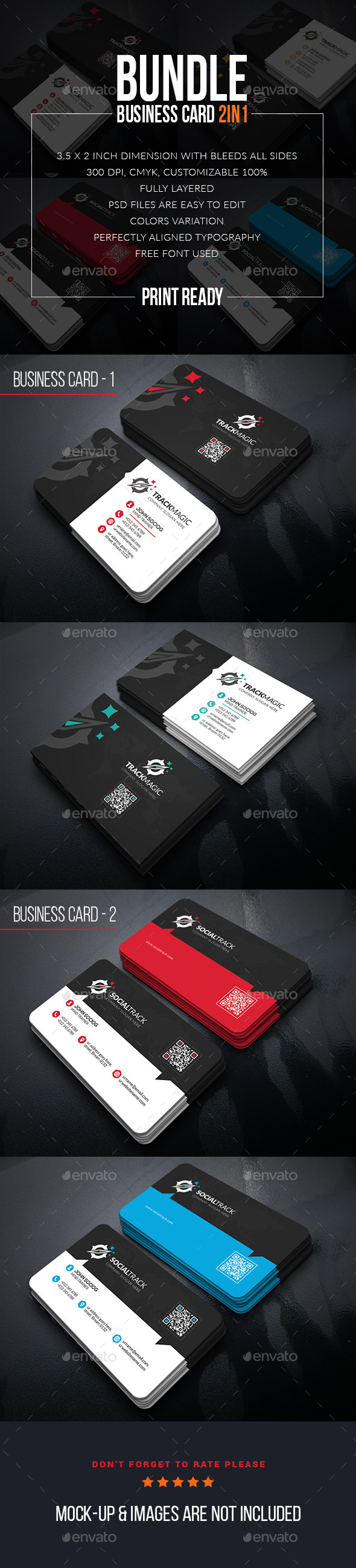 Tracking Corporate Business Card Bundle