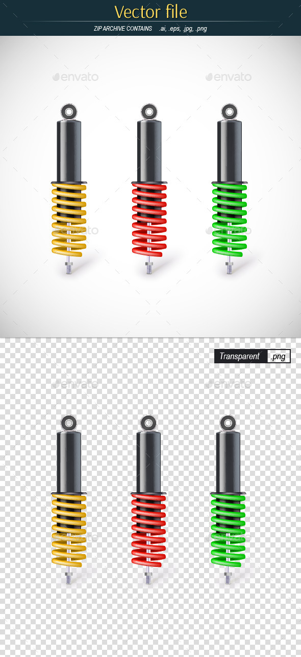 Shock Absorbers - Man-made Objects Objects