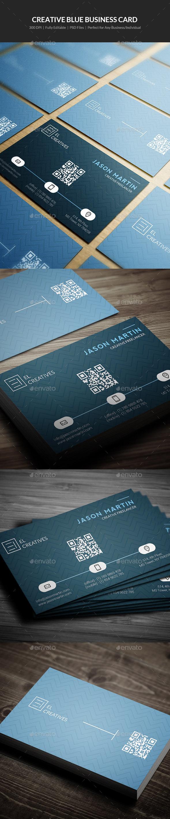 Creative Blue Business Card - 07 - Creative Business Cards