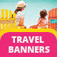 Travel Vacation Tourism - Ads Banner - GraphicRiver Item for Sale
