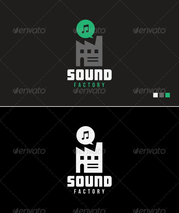 Sound Factory - Logo Template - Buildings Logo Templates