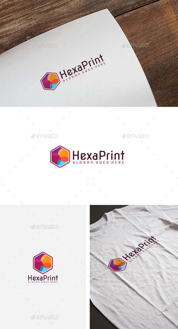 Colorful Hexagon Logo - Abstract Logo Templates