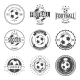 Soccer Football Typography Badge Design Element - GraphicRiver Item for Sale