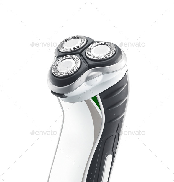 close up of shaving machine - Stock Photo - Images