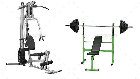 Multifunctional workout construction - Stock Photo - Images