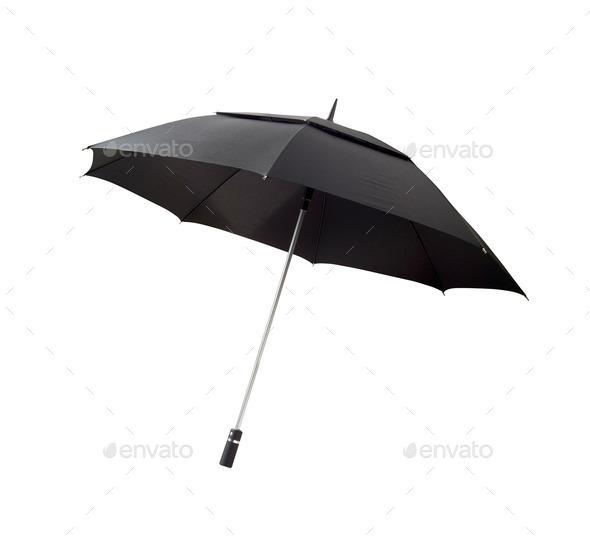 Black umbrella - Stock Photo - Images