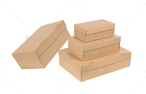 Stack of boxes isolated - Stock Photo - Images