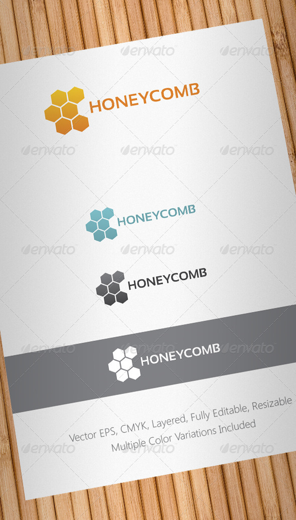 Honeycomb Logo Template - Abstract Logo Templates
