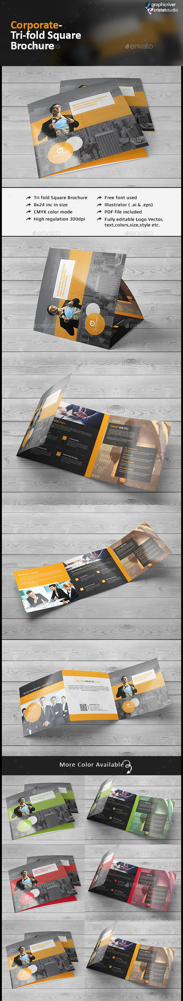 Square Tri-fold Brochure-Multipurpose
